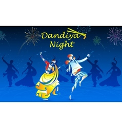 People playing Dandiya vector image vector image