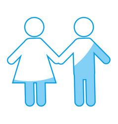 pictogram couple icon vector image vector image