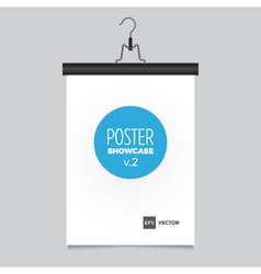 poster pants hanger black vector image