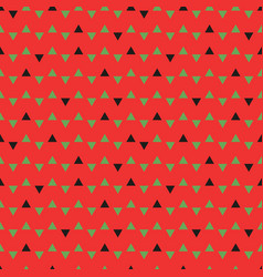 triangles pattern watermelon vector image vector image