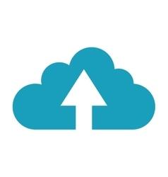 upload up arrow cloud icon vector image