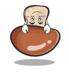 Upside down mushroom character cartoon vector