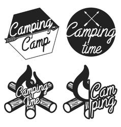 Vintage camping emblems vector