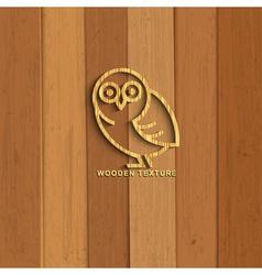 Wooden owl vector image vector image