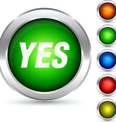 Yes button vector image vector image