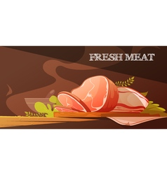 Fresh meat cartoon vector