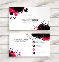 Ink splash business card vector