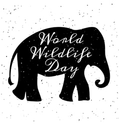 World wildlife day vector