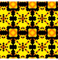 Seamless texture with Aztec drawing vector image