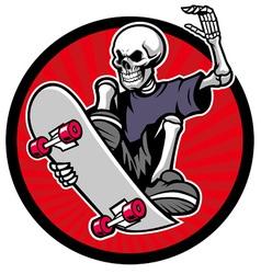 skull skater vector image