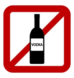 Sign of prohibition of alcohol vector