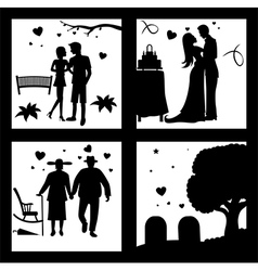 True love until death silhouette vector