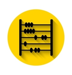 Abacus flat icon with long shadow vector