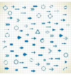 81 arrows vector image vector image