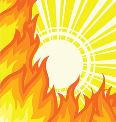Sunlight fire background vector