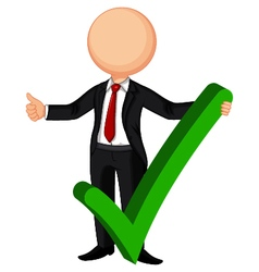 Businessman making right decision vector