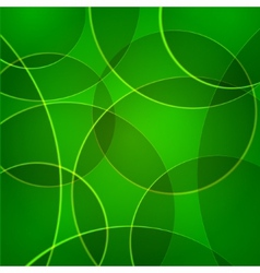 abstract background with green circles vector image vector image