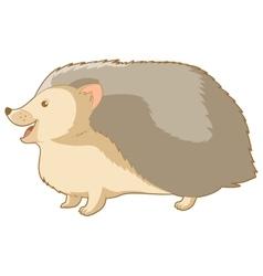 Cartoon smiling hedgehog vector