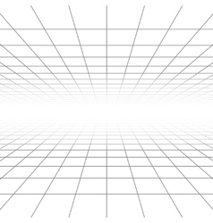 Ceiling and floor perspective grid lines vector