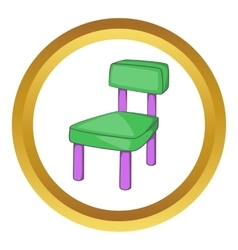 Children chair icon vector
