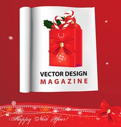 Christmas catalogue vector