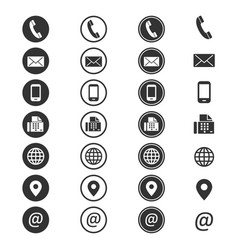 contact info icon vector image vector image