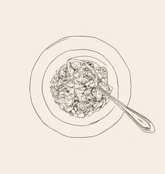 Corn flakes cereal sketch vector