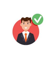 Customer review positive feedback concept vector
