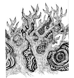 Fairy magic forest vector