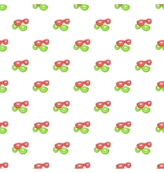 Green and red masks pattern cartoon style vector image