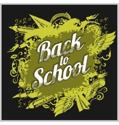 Hand-drawn back to school sketchy vector