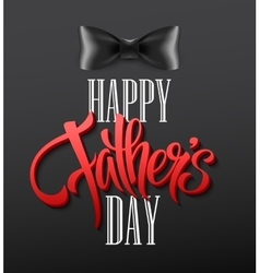 Happy fathers day background with greeting vector image