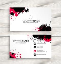 Ink splash business card vector