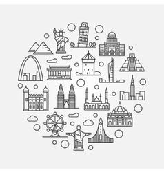 Landmarks round vector