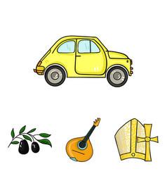 Mandolin papa olive retro autoitaly country vector
