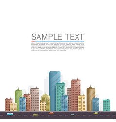 modern city landscape background vector image vector image