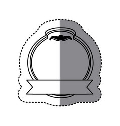 Monochrome contour sticker with heraldic circle vector