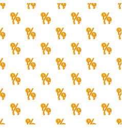 Percentage from honey pattern vector