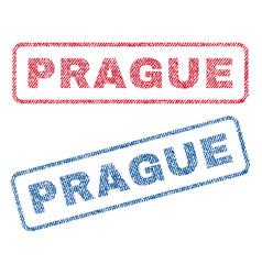 Prague textile stamps vector
