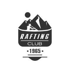 Rafting club emblem design vector