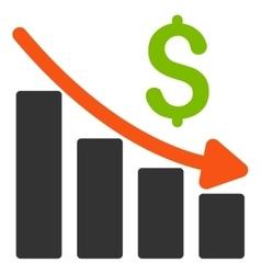 Recession trend flat icon vector