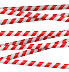 Red and white danger tape vector image vector image