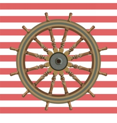 Ship steering wheal vector image