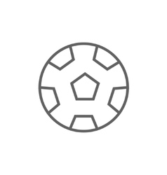 Soccer ball line icon vector image