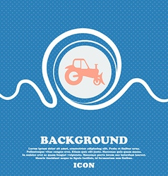 Tractor sign Blue and white abstract background vector image