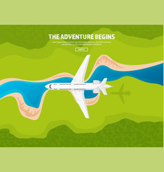 Travel and tourism airplane vector
