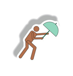 Umbrella in storm hurracian disaster vector