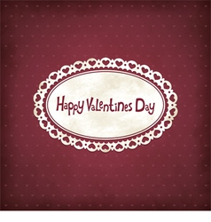 Vintage Valentines day vector image