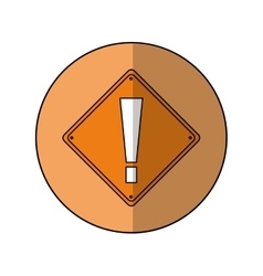 Warning alert attention sign icon beige background vector