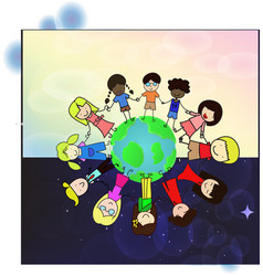 World Kids vector image vector image